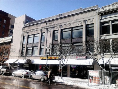 The upper floors of the former Wells & Coverly clothing store in Syracuse would be converted into ballrooms under a proposal given to the city.