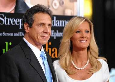 Gov. Andrew Cuomo and Sandra Lee at the premiere of Julie & Julia
