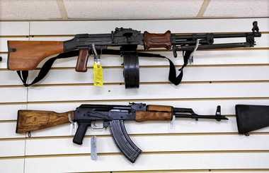 Gun sales across the area have been brisk -- particularly for anything semi-automatic and with a detachable clip. The buying trend, though, has been expanded to firearms of all shapes and sizes.