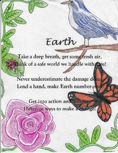 Alyssa Cregan, an 8th grader at Onondaga Central Jr./Sr. High School, in Nedrow won a national cl illustrated poem contest sponsored by the American Chemical Society.