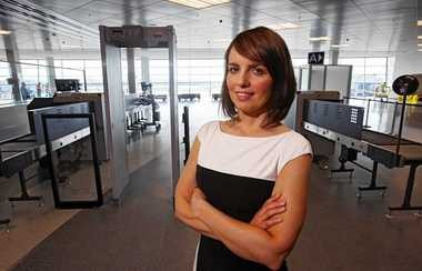 Aviation Commissioner Christina Callahan said the new security area for Syracuse Hancock International Airport is operating smoothly today.