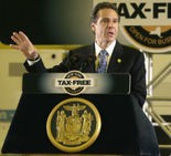 Gov. Andrew Cuomo, shown in this file photo, met privately with legislators Tuesday June 4, 2013 in Albany to discuss proposed Upstate casinos.
