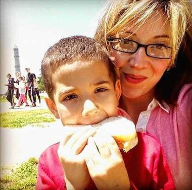 Alison Grimes and her son, Ricky.