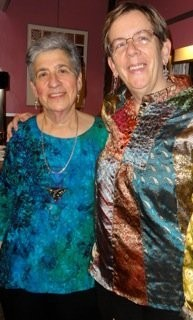 Rose Miller (left) and Lois Needham pose on their wedding day, Nov. 22, 2011. The couple's family members attended the ceremony at Sparky Town Restaurant in Syracuse.