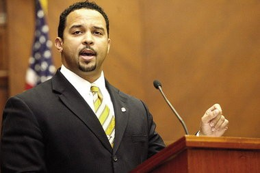 Kenyen Brown, U.S. Attorney for the Southern District of Alabama, announces the arrest of Syracuse native Mohammad Abukhdair on terrorism charges in December 2012.