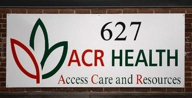 The new sign on ACR Health's office at 627 W. Genesee St., Syracuse.
