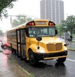 A First Student bus carrying Syracuse high schoolers was involved in a fender bender in September 2011 at East Adams and South Townsend streets.