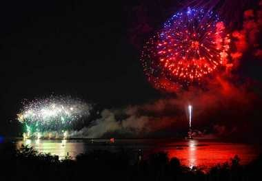 Entergy Corp., the owner of FitzPatrick nuclear plant, spends about $350,000 a year on charitable giving in Oswego County, including its sponsorship of the annual Harborfest fireworks show, according to Bill Mohl, president Entergy Wholesale Commodities.