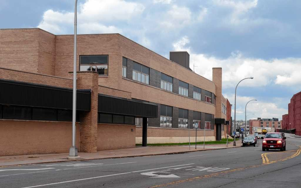 This is what the E.M. O'Donnell Building looks like now, viewed from Erie Boulevard West. A developer is seeking tax breaks for a planned $13.5 million conversion of the building into a 146-bed college dormitory named Syracuse Creekwalk Commons.
