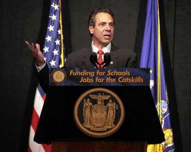 Gov. Andrew Cuomo speaks during a news conference in Bethel, N.Y., Wednesday, Nov. 6, 2013.