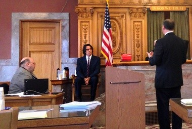 Rick Springfield answers questions from plaintiff's lawyer Kenneth Goldblatt this week before state Supreme Court Justice Anthony Paris.