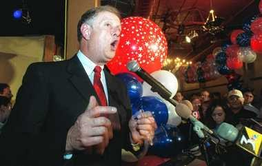 Former Assemblyman Michael Bragman on election night 2000. He left public office in 2002 and his campaign accounts continue to spend money, including wages for his wife.