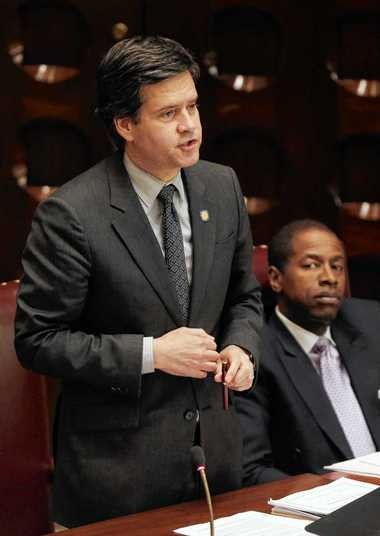 """New York state Sen. Brad Hoylman, D-Manhattan, today criticized a bill that would tie voter registration to hunting and fishing license applications as """"the NRA voter assistance act."""" File photo, 2013."""