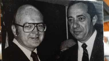 Ron Stott with former Gov. Mario Cuomo in a newspaper clipping during Stott's term in the state Assembly from 1975 to 1976.
