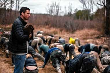 Jason McCarthy, a former U.S. Army Green Beret, founded the GoRuck equipment company and the endurance GoRuck Challenges. He is shown here at a GoRuck event in February in North Carolina.