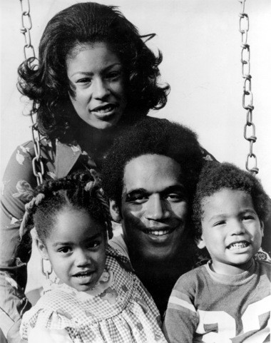 O.J. Simpson, running back for the Buffalo Bills, poses with his wife, Marguerite Whitley, daughter Arnella, 4, and son Jason, 2, in Buffalo, N.Y., on Oct. 10, 1973.