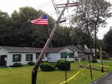 Storm damage in East Syracuse.