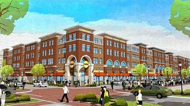 Rendering shows a mixed-use building that COR Development Co. plans to construct on Van Rensselaer Street, near the western shore of the Syracuse Inner Harbor.