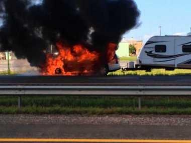 Traffic alert: Vehicle fire on New York State Thruway causes backup