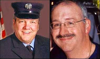 Firefighter Michael D. Sowich, left, and Lt. James C. Goodman Jr., are among the fallen firefighters that will be honored at a national memorial service on Oct. 12.