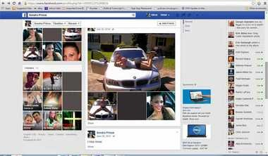 "This image obtained by The Associated Press shows a Facebook page for ""Sondra Prince."" (Editor's note: Some photos have been blacked out to protect the identities of children pictured.) The Justice Department said Tuesday it is reviewing a woman's complaint that a Drug Enforcement Administration agent set up a fake Facebook account using her identity. Sondra Arquiett, who was arrested on drug charges 2010 for her role in a suspected drug distribution network, is suing the agent in federal court in the Northern District, in upstate New York. The case is scheduled go to trial in Albany, New York. The Justice Department is also investigating the practice of making a fake profile. (AP Photo)"