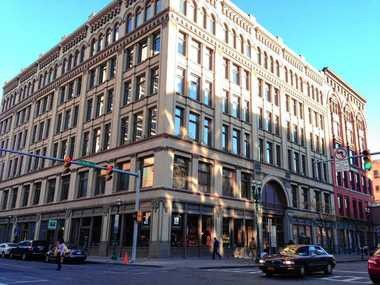 Developers plan to add 16 more luxury apartments to Dey's Plaza at 401 S. Salina St. in downtown Syracuse. The former Dey Brothers Department Store building contains office and retail space, and 45 apartments.