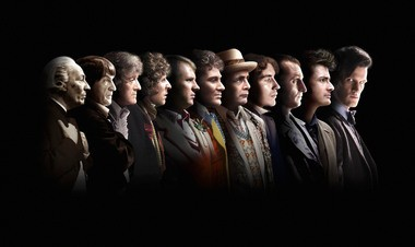 An undated handout photo made available by the BBC shows the first Eleven Doctors, from left, William Hartnell, Patrick Troughton, Jon Pertwee, Tom Baker, Peter Davison, Colin Baker, Sylvester McCoy, Paul McGann, Christopher Eccleston, David Tennant and Matt Smith.