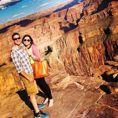 In this Oct. 21, 2014 file photo provided by TheBrittanyFund.org, Brittany Maynard and her husband, Dan Diaz, pose at the Grand Canyon National Park in Arizona. The 29-year-old terminally ill woman fulfilled a wish on her bucket list: visiting the Grand Canyon. Maynard, who has advanced brain cancer, used Oregon's death-with-dignity law to end her own life Saturday.