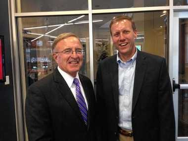 New York State Sens. John DeFrancisco, R-Syracuse, and David Valesky, D-Oneida, at the Syracuse Media Group office on Thursday, June 26, 2014.