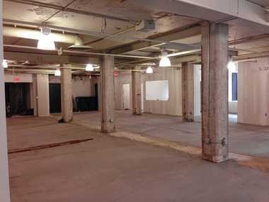 Work is underway on the new Syracuse CoWorks location at 201 E. Jefferson St. in downtown Syracuse.