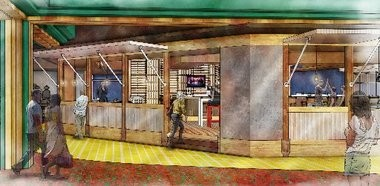 A rendering of the interior of the Yellow Brick Road Casino, to be opened by the Oneida Nation in spring 2015.