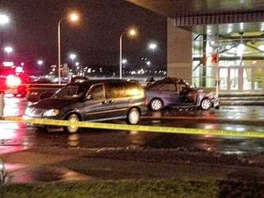 Syracuse police charged the driver of a pickup truck with felony DWI and vehicular manslaughter, among other charges, after 19-year-old Kane Buss died in this three-vehicle crash Sunday night at Hiawatha Boulevard West and Solar Street near Destiny USA in Syracuse.