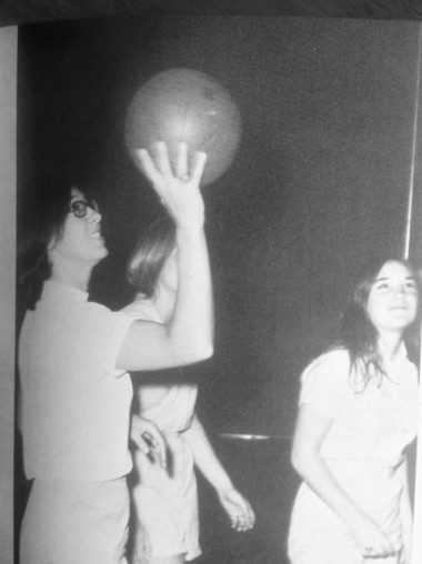 Former Bishop Grimes girls basketball coach Barbara Pfefferle works with her team in this photo from the early 1970s.