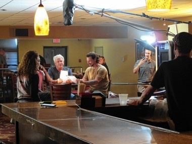'American Dresser' is shooting today inside the Ramada Inn at Carrier Circle.