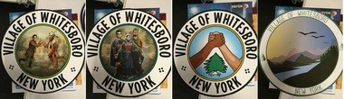 Several of the seals which were being considered in Whitesboro to replace the controversial seal.