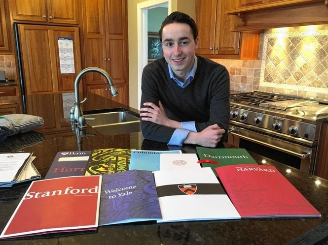 Skaneateles High School Valedictorian Vincent Viego was accepted to all eight Ivy League schools plus 14 other prestigious universities.