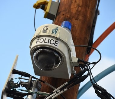 A police security camera on Gifford St. on the Near West Side