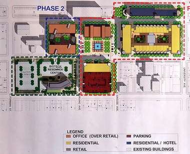 This conceptual drawing of the planned Loguen's Crossing development, formerly Kennedy Square, was unveiled by Cor Development in December 2011.