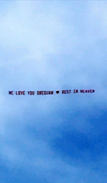 This banner flew in the skies about Syracuse in May of this year to commemorate the death of Drequan Robinson