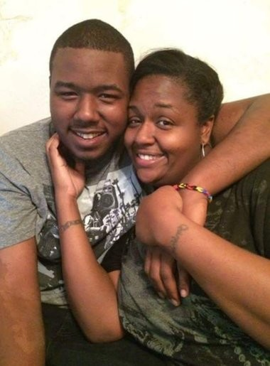 Quinnika Ayers and her son, Drequan Robinson, pose in this undated photo.