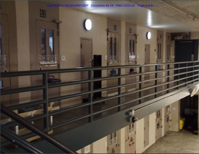 These are doors to the cells at the fifth-floor Segregation Housing Unit or SHU at the Onondaga County Justice Center.