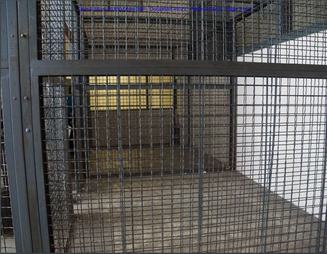 Inmates, including teenagers, who were held at the SHU were allowed one hour of recreation a day inside this area.