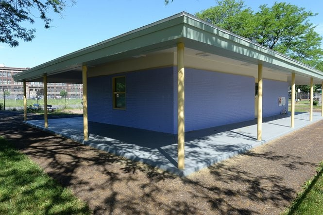 The new neighborhood police substation at Skiddy Park.