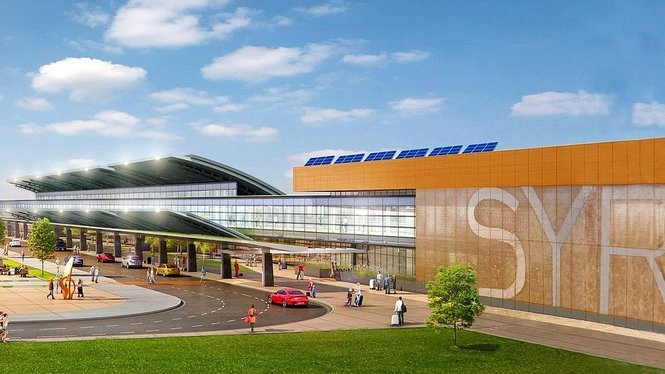 Rendering shows some of the $45 million in upgrades coming to Syracuse Hancock International Airport. The work will start Sept. 11, 2017, and is scheduled to be completed in October 2018.