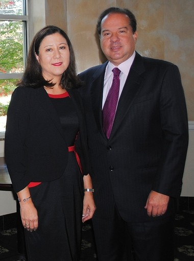 Carol Nappi, left, and her husband Sam Nappi, right, recently donated $8 million to the Upstate Foundation, the largest gift in its history.