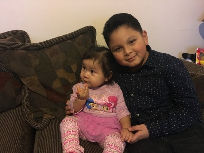 Ashley, 15, months, and Jorshua, 7, are the U.S. Citizen children of Alvaro Rene Mendez Perez, who has been detained by ICE and could be deported to Guatemala.