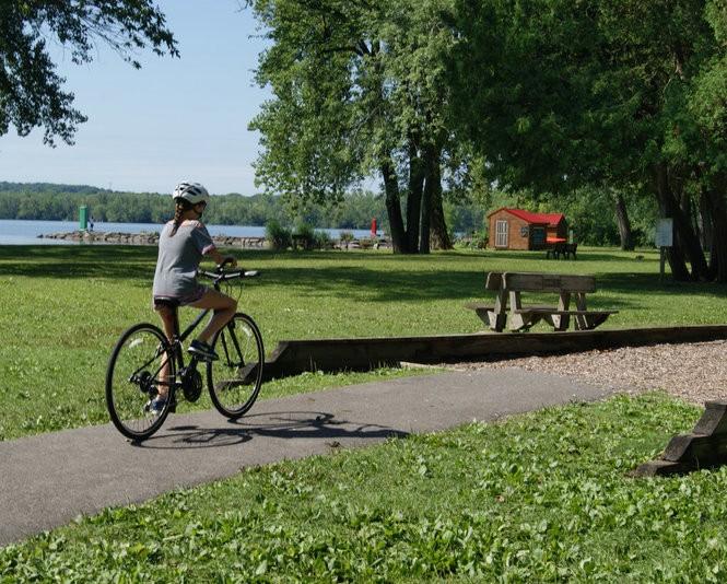 Maria rides at Onondaga Lake Park.
