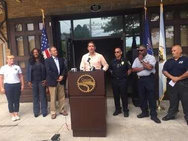City and state officials announced the expansion of the body-worn camera program Saturday at Onondaga Park.