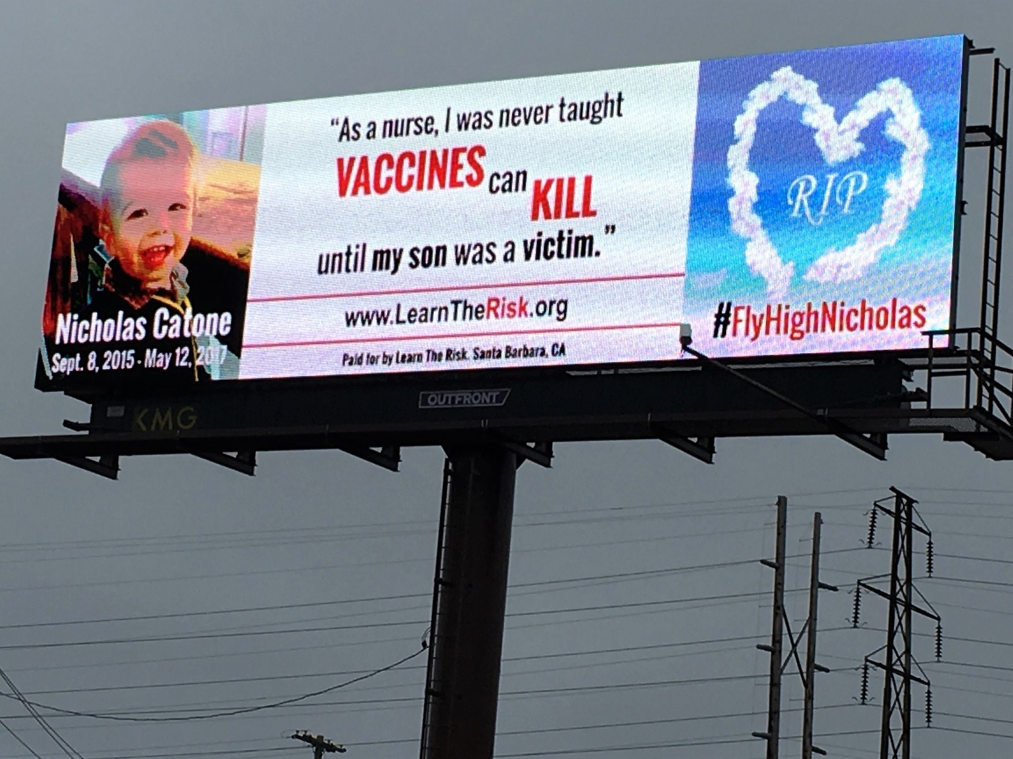 Anti-vaccine  billboard in Syracuse featuring former fighter's dead son sparks criticism - syracuse.com