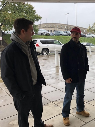 Bryce Winkler (left) and Michael Sarkis (right) spoke about the political issues that matter most to them.